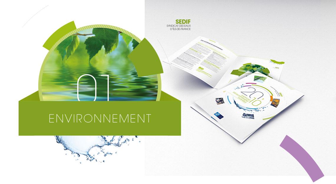 SEDIF rapport annuel, rapport d'activite, rapport developpement durable 2